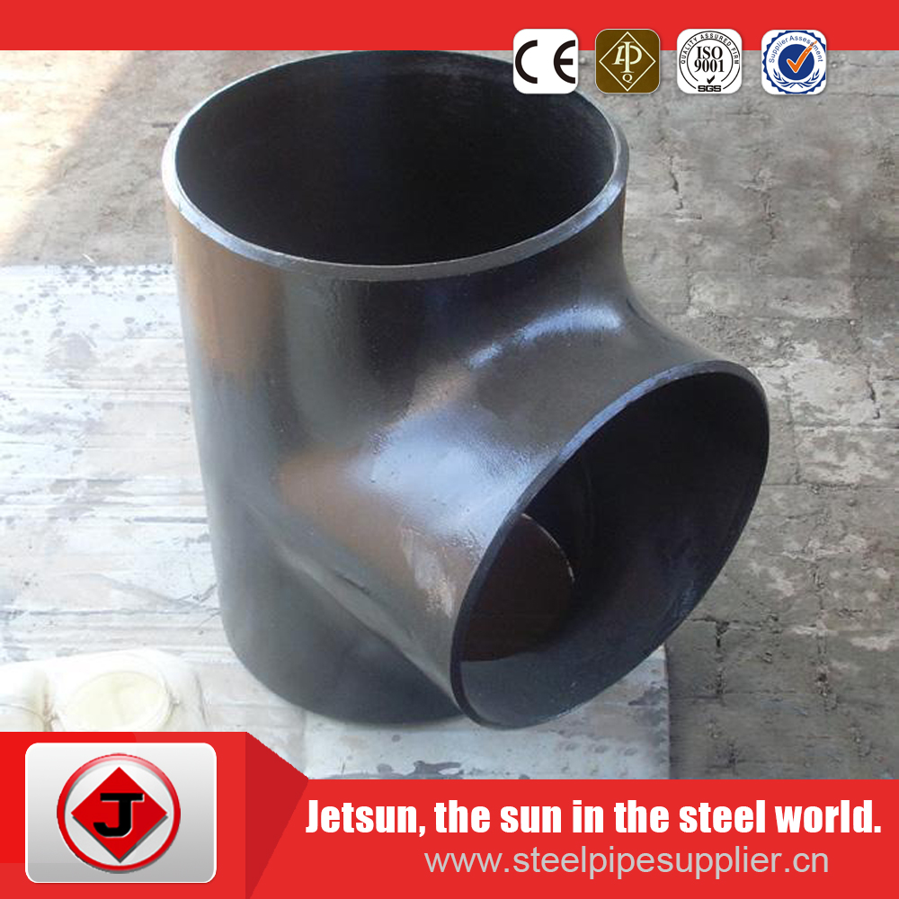 asme b16.9 a234 wpb bw seamless sch40 carbon steel equal tee