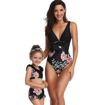 Family Matching Clothing Two Pieces Swimwear Family Look Mother Daughter Swimsuit Baby & Kids Bathing Suit