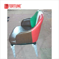 PU cover solid wood legs American diner chairs with rainbow color (FOH-RCW37)