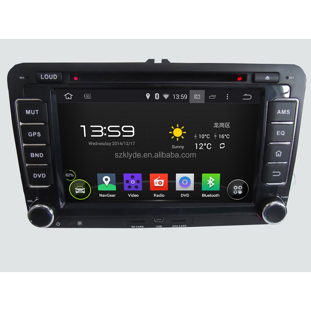 2015 new special quad core Android4.4.4 touch screen mirror link car dvd player for SEAT/ CC/POLO/Golf 5/Golf 6