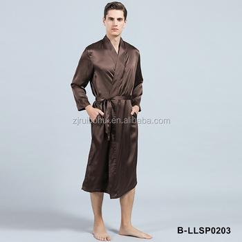 19-22mm Luxury Bathrobes Silk Dressing Gowns For Men - Buy Silk ...