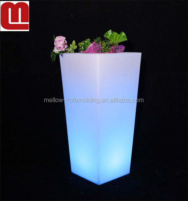 Mellow Waterproof flash light table furniture led bar morden Colored outdoor plastic illuminated led furniture