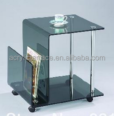 Clear Tables Acrylic Hotel Serving Table With Wheels Side Table With Wheels