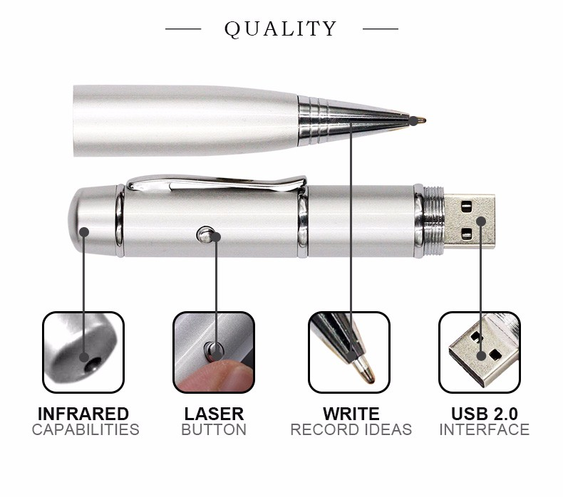 light pen USB Flash Drives With leds multi-functional laser pointer Pendrives 8gb 16gb 32gb 64GB Laser Pen drives Gift 4GB