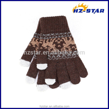 HZS-13253005 Women iPhone Winter iPad Smart Phone Knitted Touch Screen Gloves