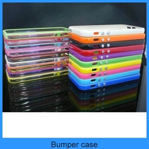 Color Clear TPU Silicone Bumper Frame Case with Metal Buttons silicone bumper case for iPhone 5 5G 5th(PT-I5B201)