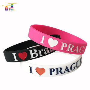 personalized 3 inch luminous silicone bangle bracelet