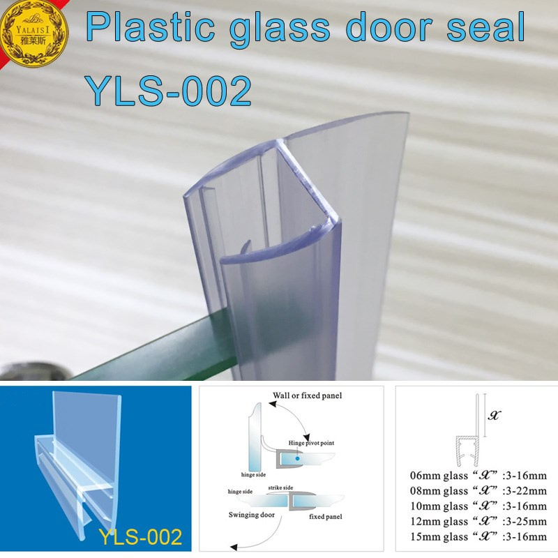 Eco friendly Clear Polycarbonate Door Lip Seals With Side Sealing For 6 8mm  Thickness Glass Door   Buy Door Seal Glass Seal Clear Polycarbonate Seal  Product. Eco friendly Clear Polycarbonate Door Lip Seals With Side Sealing