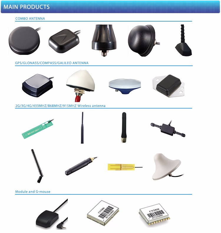 JCA205 Free sample 1575.42 MHz Device Glonass / GPS Antenna