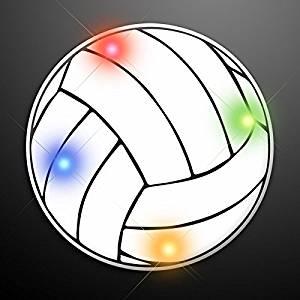 BlinkROCK Volleyball Flashing Body Light Lapel Pins