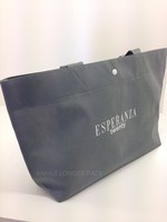 Latest promotional non woven trendy shopping bag with button closure
