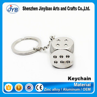 popular design mini dice shaped keyring game gamble theme souvenir keychain