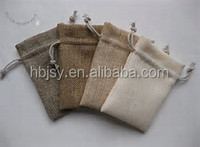 Accept Custom Order and Screen Printing Surface Handling decoration jute bag with drawstring