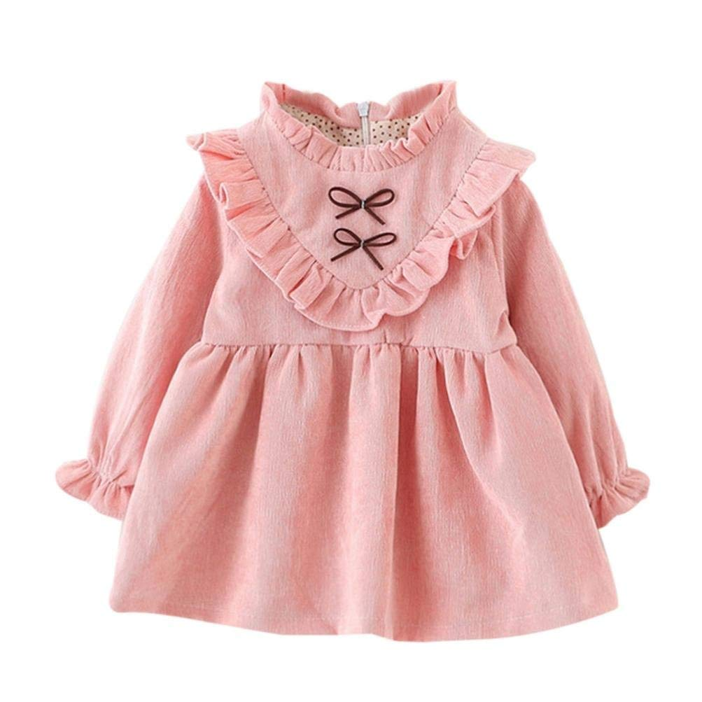 Dinlong 2Pcs Toddler Infant Baby Girls Clothes Bow Backless Net Yarn Strap Dress+Pants Outfits