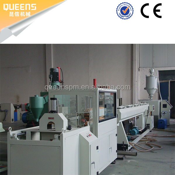 QUEENS plastic PVC pipe production line PVC fiber enhanced pipe production line