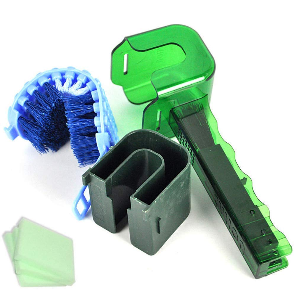 Ajmio Cycling Chain Cleaner Tool Flywheel Clean Wash Kit Bike Chain Cleaning Brush Scrubber Portable