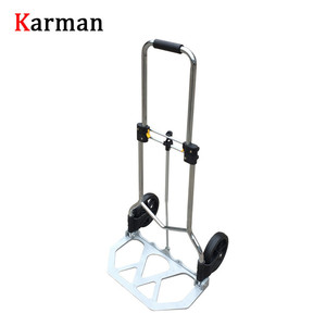 High quality folding hand trolley / shopping trolley / luggage barrow