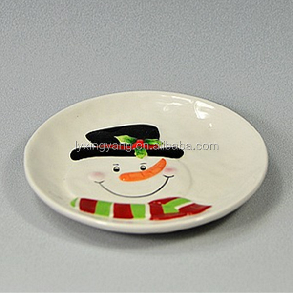 ceramic hand painted plate wholesale wholesale christmas plate & Ceramic Hand Painted Plate WholesaleWholesale Christmas Plate - Buy ...