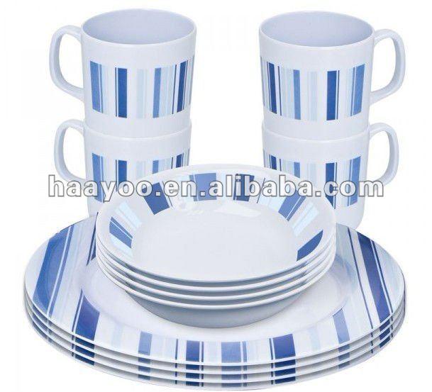 vaisselle en m lamine ensemble pour pique nique 12 pcs nouveau produit vaisselle en m lamine. Black Bedroom Furniture Sets. Home Design Ideas