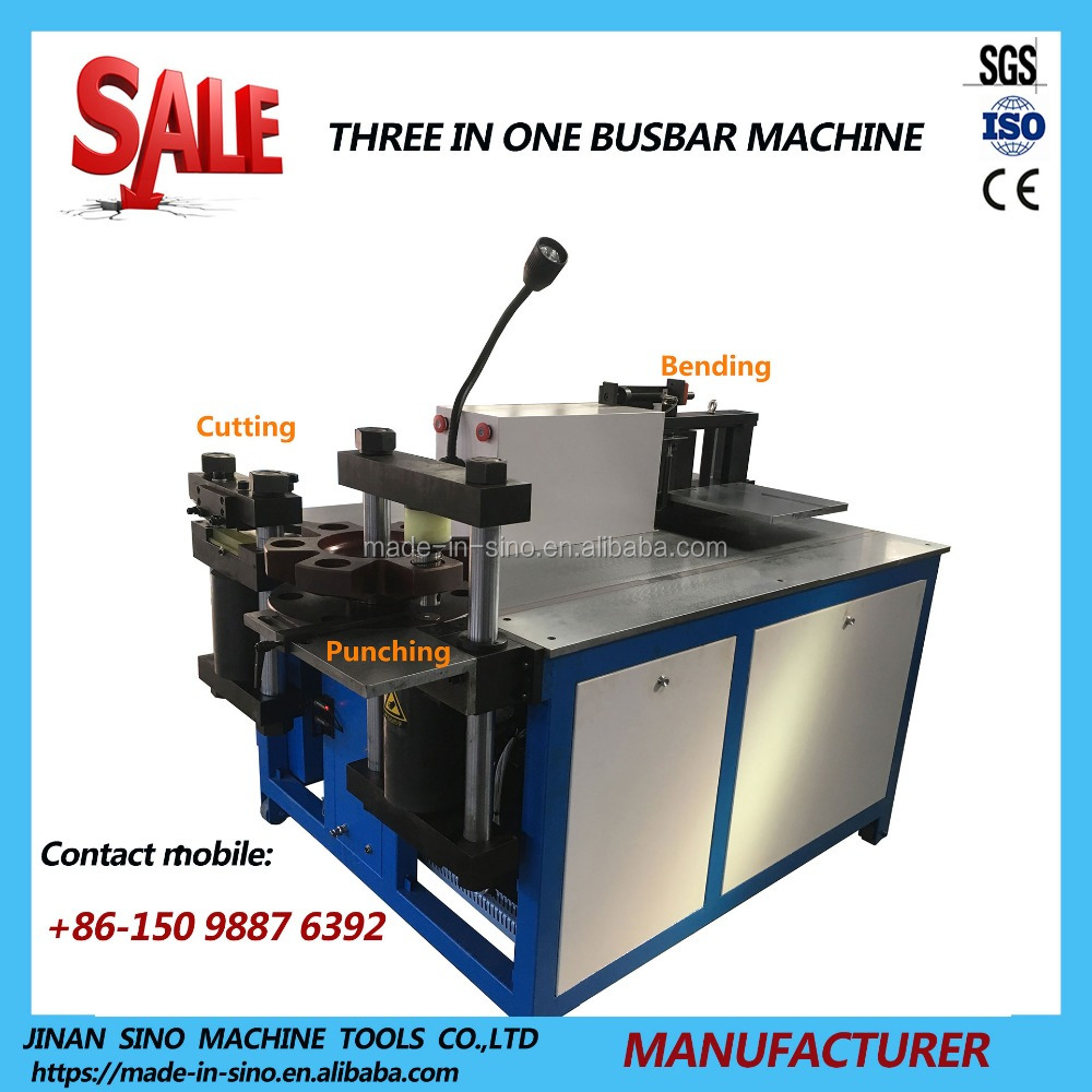 Price of copper bending cutting punching machine busbar system