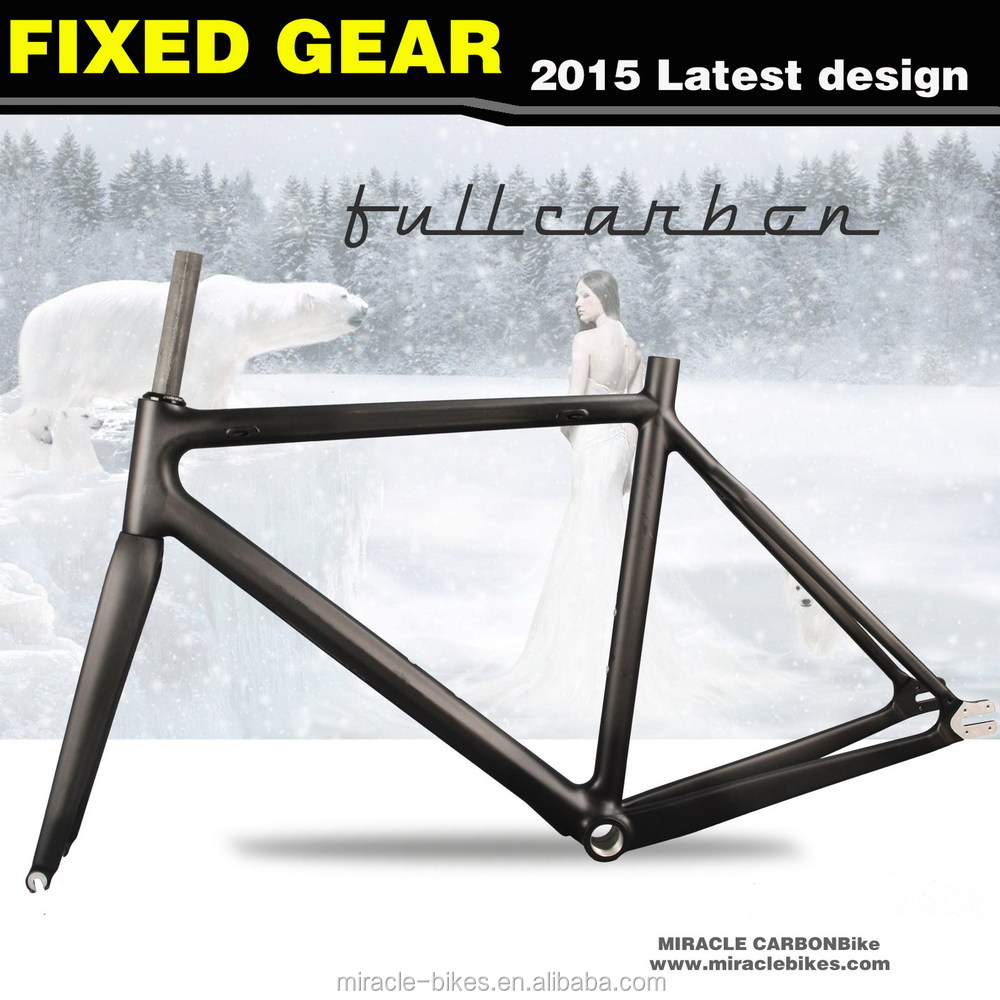 700c Fixie Carbon Bike Frame Fork,Ud Matt Fixed Gear Bicycle Frames ...
