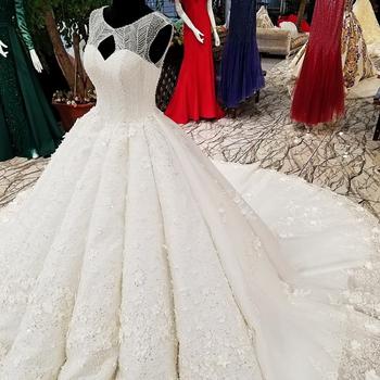 Ls31120 Real Luxury White Princess Wedding Dress Wear Long Train Fairytale