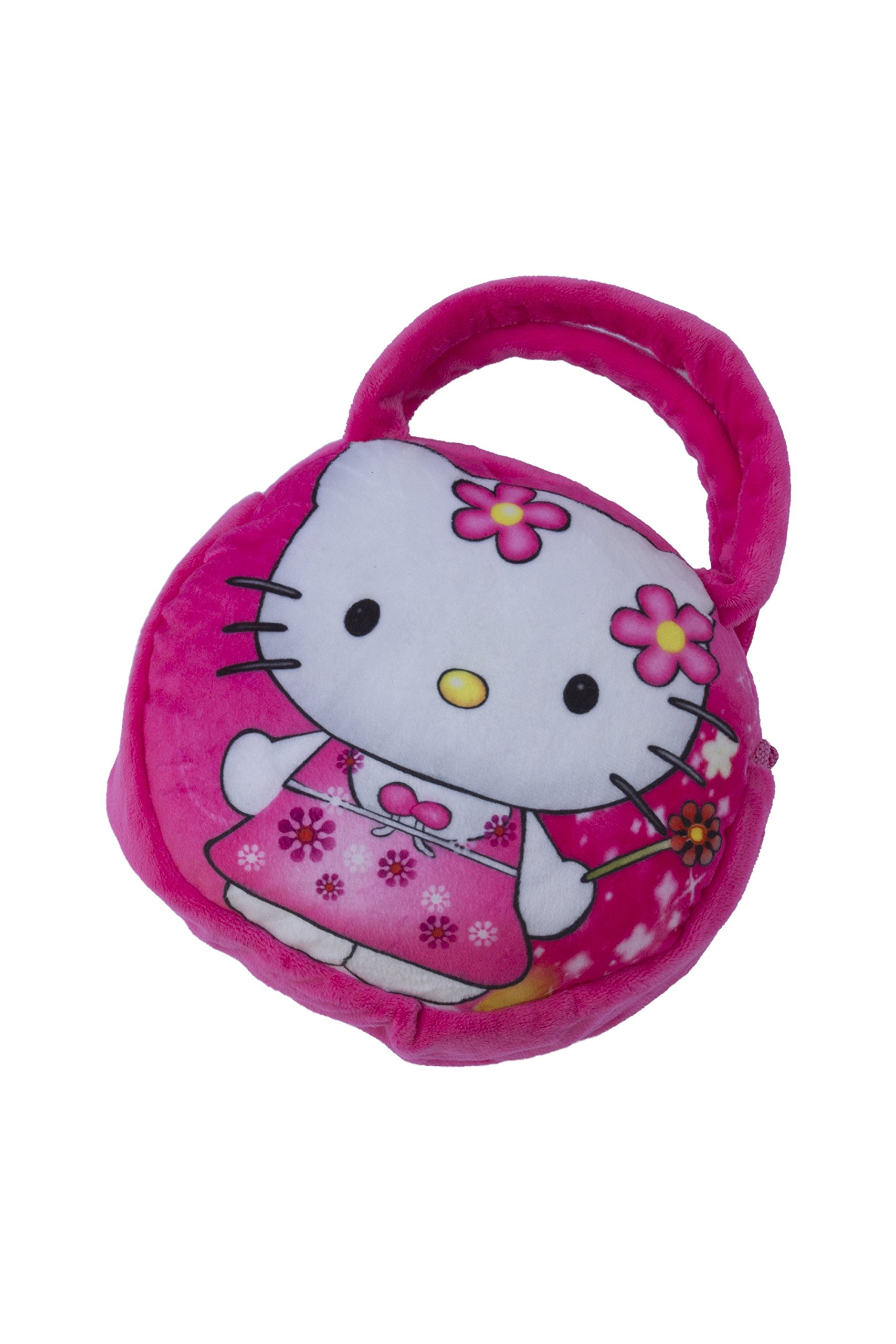 Get Quotations · Hello Kitty Soft Plush Handbag Purse for Kid Toddler by QS 344105e0658bf