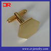 18K Gold Plating Engraveable Flat Plain rectangle Mens Cuff Links