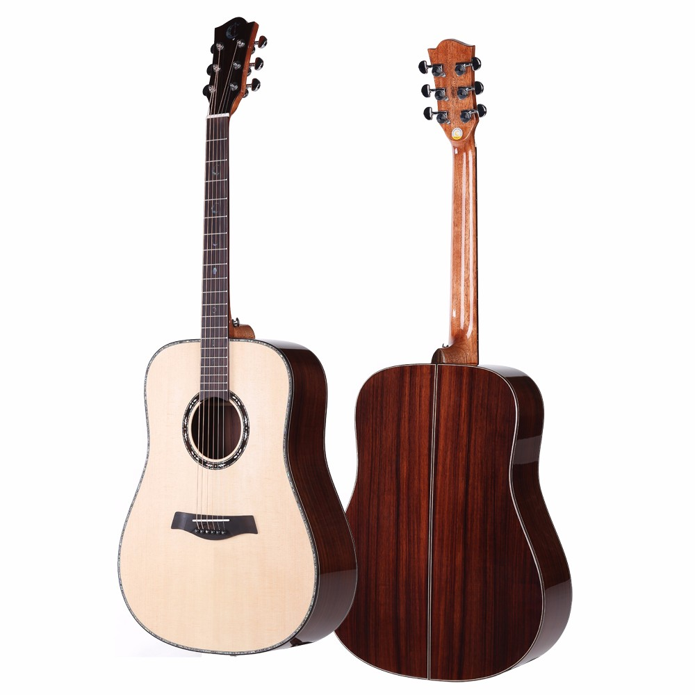 All solid wood acoustic guitar 41 inch red cedar rosewood acoustic guitar