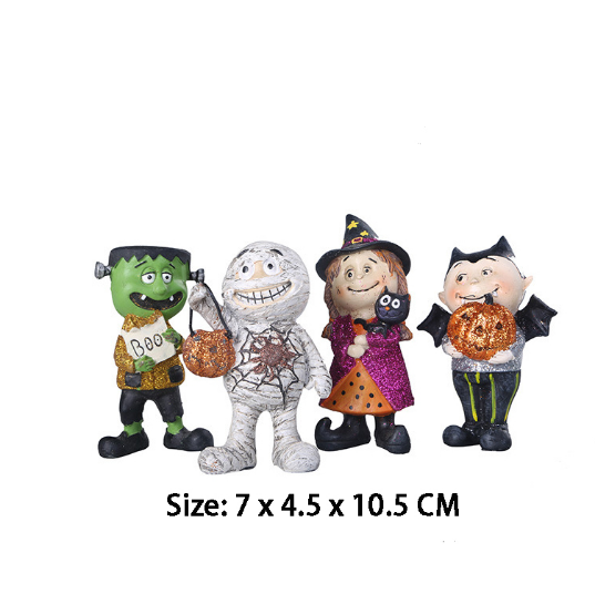 Wholesale 3D creative decorative Halloween souvenir mini character resin figures