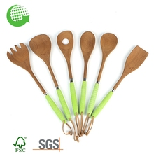 Custom Eco-friendly Natural Wholesale Spoon Spatula Combination