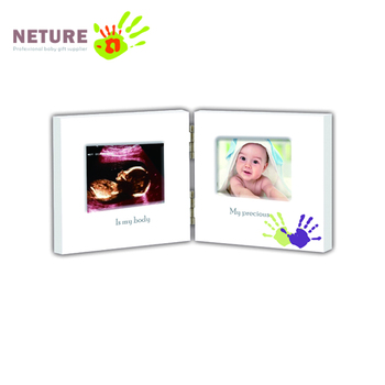 Baby Wood Picture Frame For Keepsake Ultrasound/sonogram Images And ...