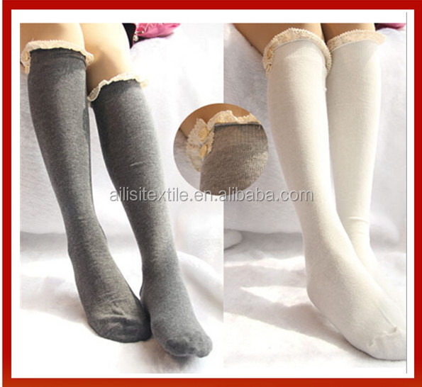 0bb6832002625 School Sex Girl Knit Lace Knee High Socks /Cotton Fancy School Girls Knee  High Socks/Custom School Girls Knee High Socks