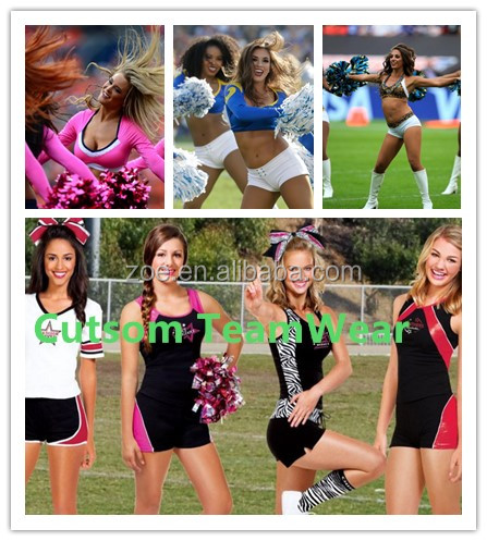 Free design sheer spandex material for cheerleading sports uniforms