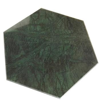 Customized Hexagon Amy Green Marble Cutting Board