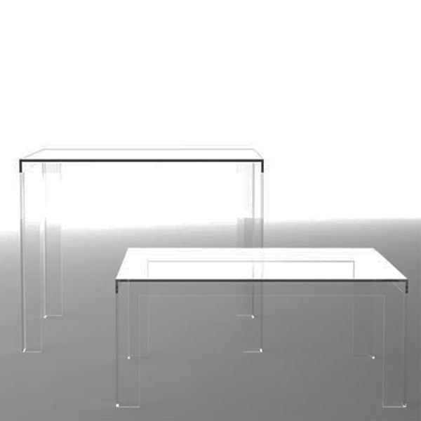 mode console table en acrylique transparent table de. Black Bedroom Furniture Sets. Home Design Ideas