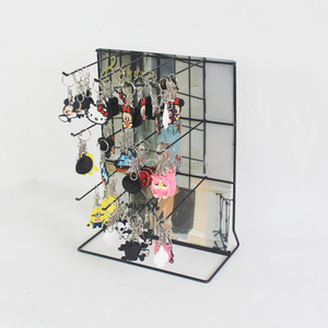 Metal powder coating keychain/key ring display rack/stand with sign holder  rack