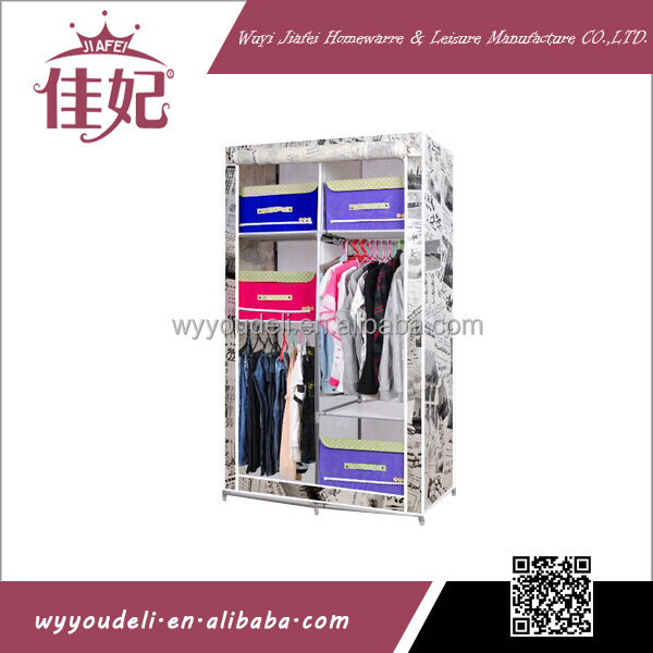 Steel Tube Frame Hot Sell Cloth Closet With The Side Bagarmoire Factory