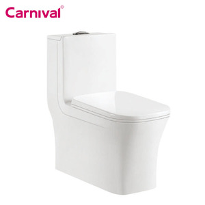 Asia Malaysia Singapore market hotel design public bathroom large size washdown one piece toilet S trap 200 mm roughing in 9609