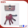 Customized various 60mm Aluminum Euro Profile Door Lock Cylinder with or without Knob