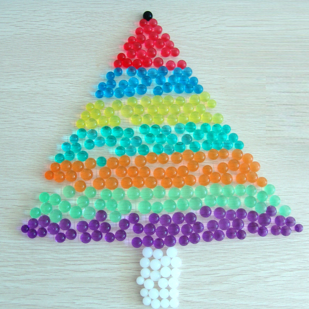 Mix Rainbow Water Absorbent Polymer Gel Water Beads For Christmas Decoration