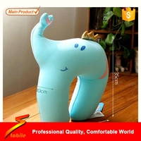 STABILE Hot Sale,2016 Cute Animal Design Child Care Pillow Safety Seat Headrest Travel Pillow Car Neck Baby Pillow