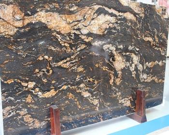 Luxury Stone Magma Gold Granite Slab Product On