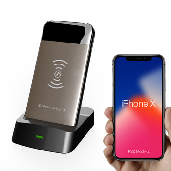 wireless power bank 5000mah Qi Wireless Charging Stand power bank Removable power bank for mobiles