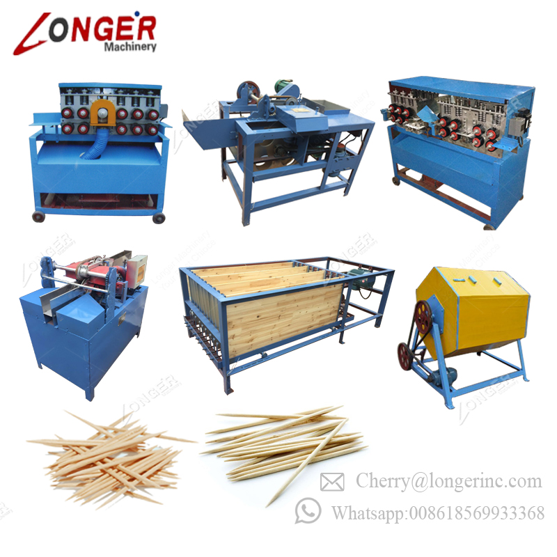 High Quality Low Price Toothpicks Equipment Wood Tooth Picks Production Line Wooden Toothpick Making Machine For Sale