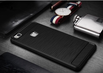For Huawei P8 P8 Lite Wire Drawing Carbon Fiber Internal Heat Radiation Phone Case,Full Cover TPU Drop Resistance Case For P9