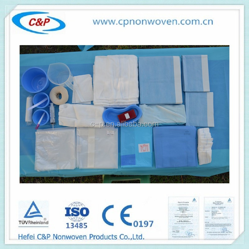 Disposable Orthopaedic Surgery pack/sterile surgical drape pack/disposable examination drape