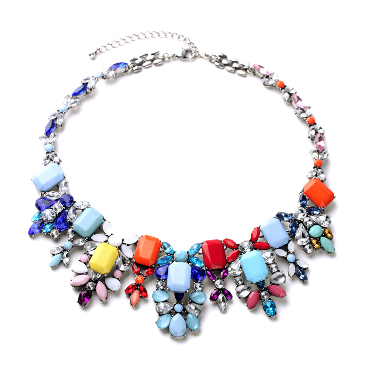 Classy Jewelry For Sale All-match Collars Chunky Multicolor Necklace