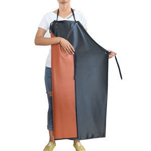 Ajustable disposable plastic waxed rubber industrial apron