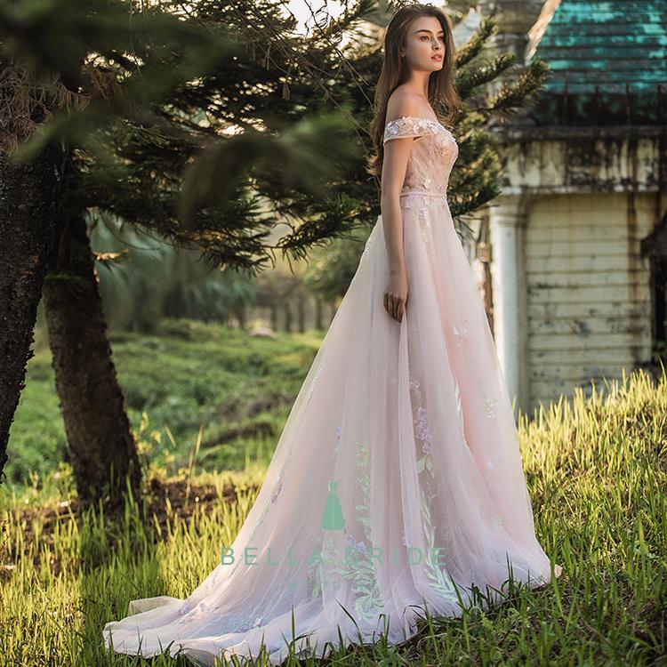 Fairy Style Pink Evening Dresses Vestidos De Quinceanera Dresses